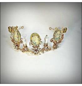 HPF0024 - Gold Pearl Tiara