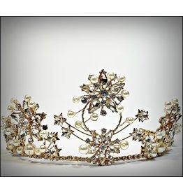 HPF0027 - Gold Pearl, Vintage Tiara
