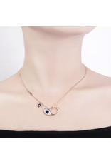 EEA0050-Rose Gold Eye Necklace