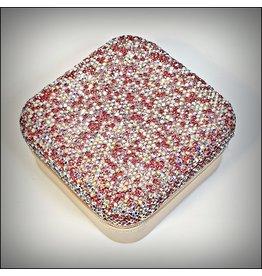 HRG0154 - Pink Square Mini Jewellery Box