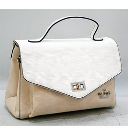 20260024 -Two Tone Clutch Beige