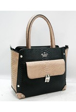 20260033 -Satchel Black And White Bag