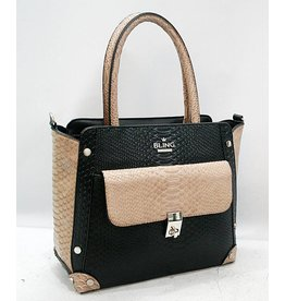 20260033 -Satchel Black And White Bag