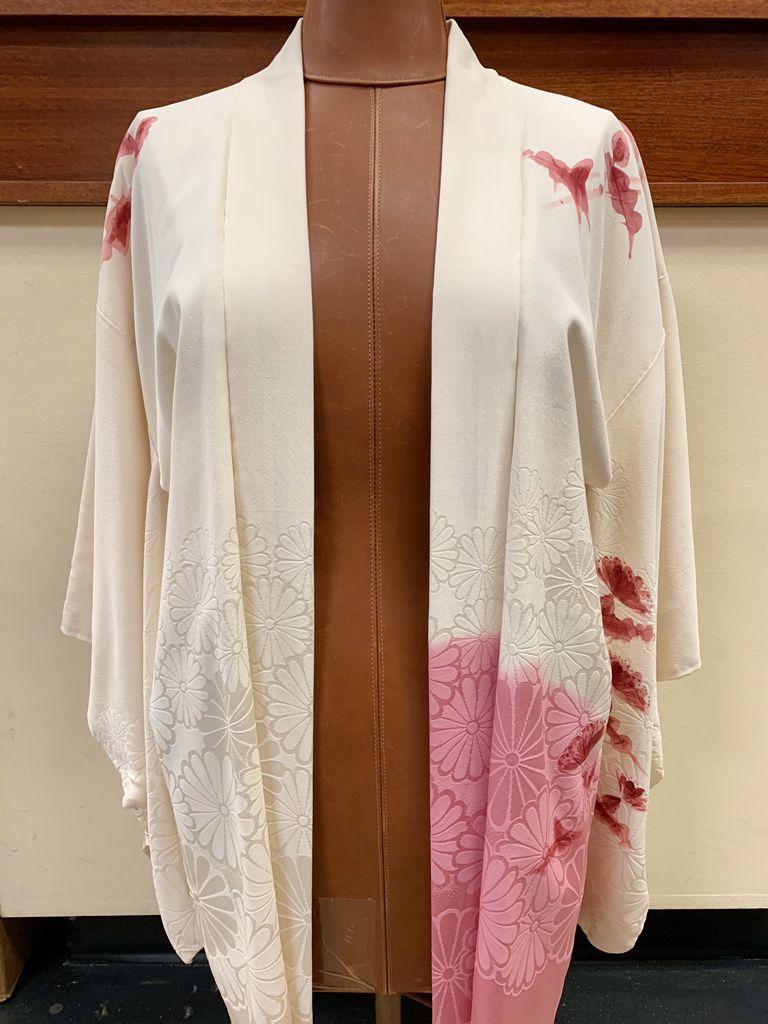 Elizabeth Kent Ombre cherry blossoms painted kimono jacket