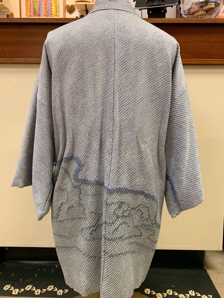 Elizabeth Kent Steel blue shibori jacket