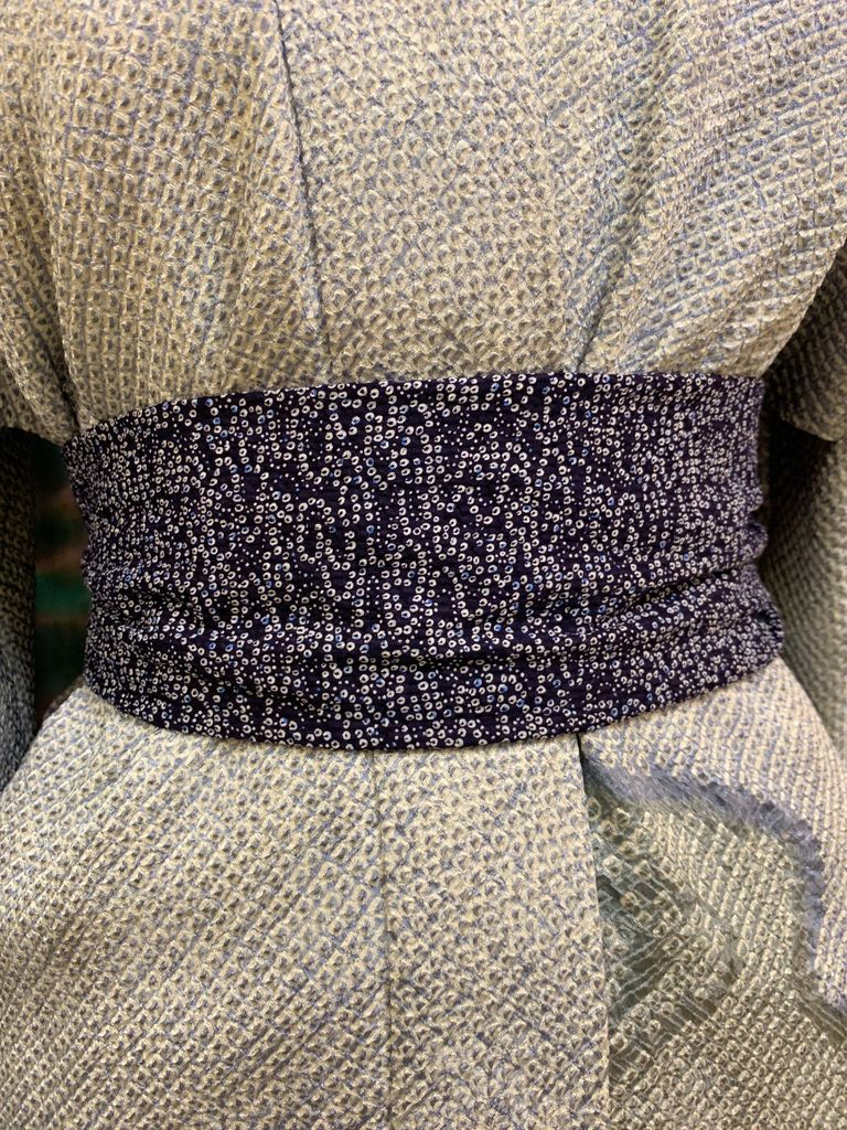 Elizabeth Kent blue dots scarf