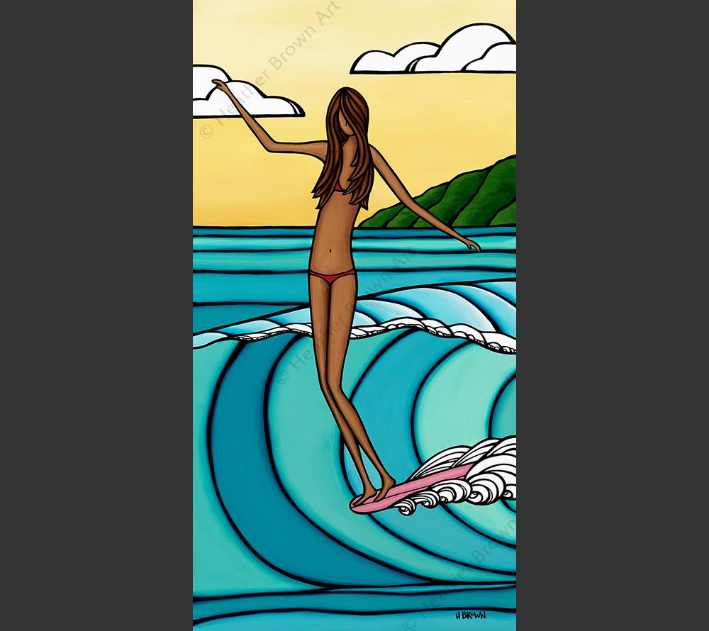 """Heather Brown WAHINE, 12""""X24"""" GALLERY WRAP GICLEE ON CANVAS, LIMITED EDITION #16/100, SO21098"""