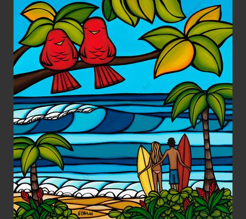 Heather Brown ISLAND SWEETHEARTS, GALLERY WRAP GICLEE ON CANVAS, 20X20, #3/100, SO21098