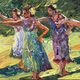 "Mark Brown ORIGINAL OIL PAINTING: 12""X36"" ""HULA"""