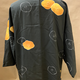 Elizabeth Kent Black kimono jacket with orange flowers