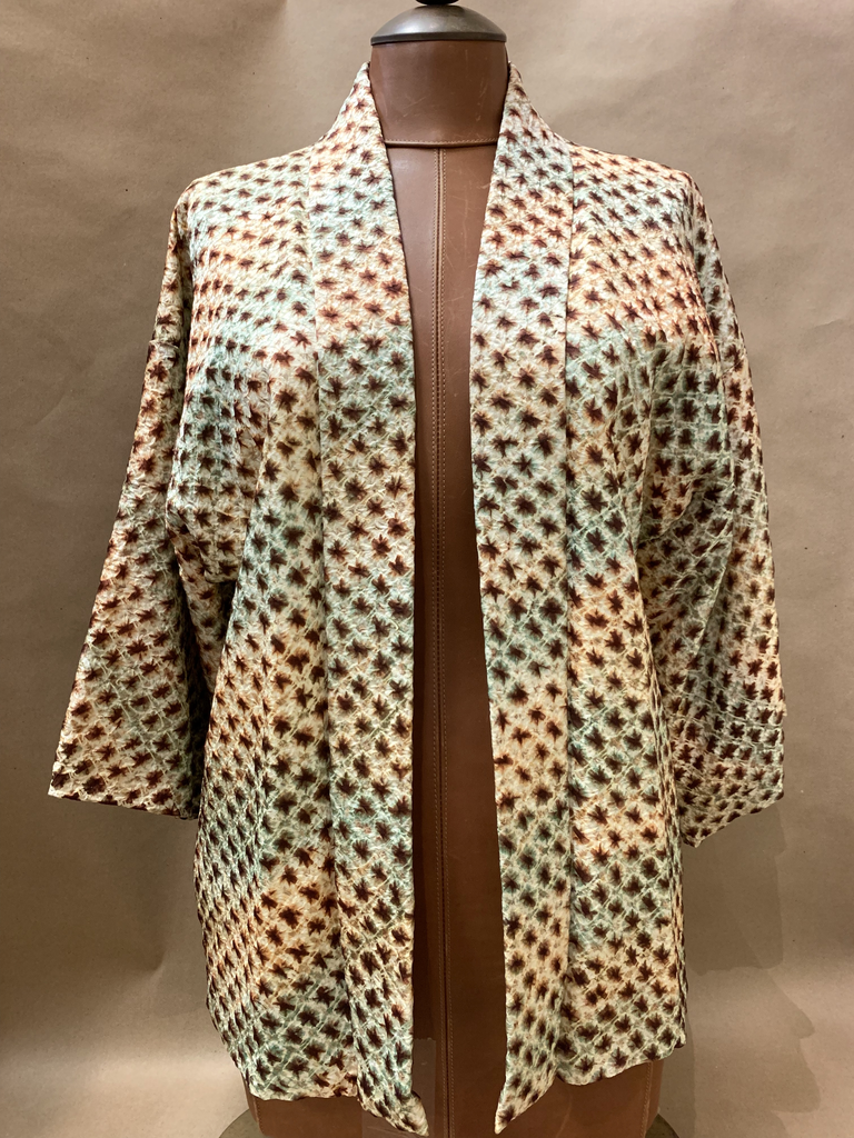 Elizabeth Kent shibori jacket (big dots on cream)