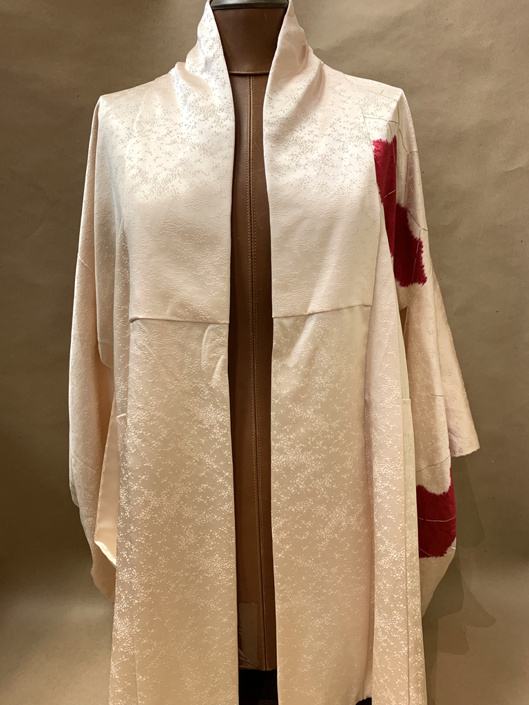 Elizabeth Kent Cream and fushia shibori jacket with gold screening