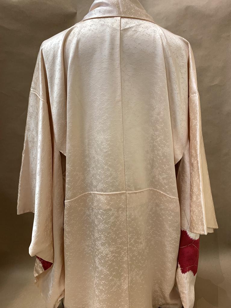 Elizabeth Kent Cream and fushia shibori jacket with gold screening