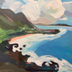 "Almeda Art ORIGINAL ACRYLIC PAINTING: MAKAPU'U NO. 316, 11""X14"""