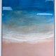 "Sarah Caudle ORIGINAL RESIN PAINTING - SUNSET SEA, 18""X24"" FRAMED"