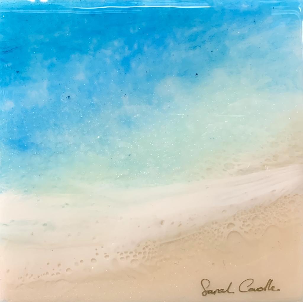 "Sarah Caudle ORIGINAL RESIN PAINTING - FRESH AIR 4, 6""X6"""