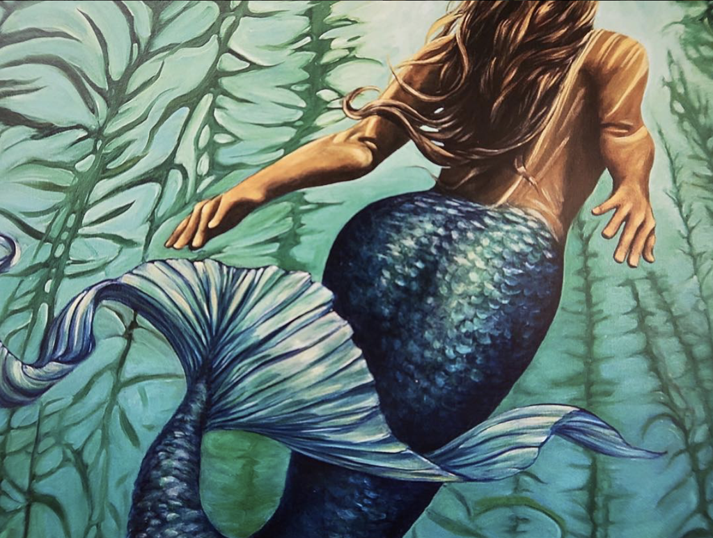 "Kelly Keane CANVAS GICLEE: MERMAID DREAMS, 12""X16"""