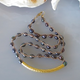 "MiNei Designs 16"" Peacock Rice Pearls with Gold Curved Bar"