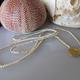 "MiNei Designs 40"" Tea Dyed Bone with Gold Vermeil Pendant"