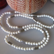 "MiNei Designs 34"" White Coral with Silver Basketweave Spacers"