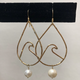Rose Wong EARRINGS-GOLD FILL FRESH WATER WAVE TEARDROP