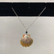 Rose Wong NECKLACE-STERLING SILVER SUNRISE SHELL WITH CHARMS
