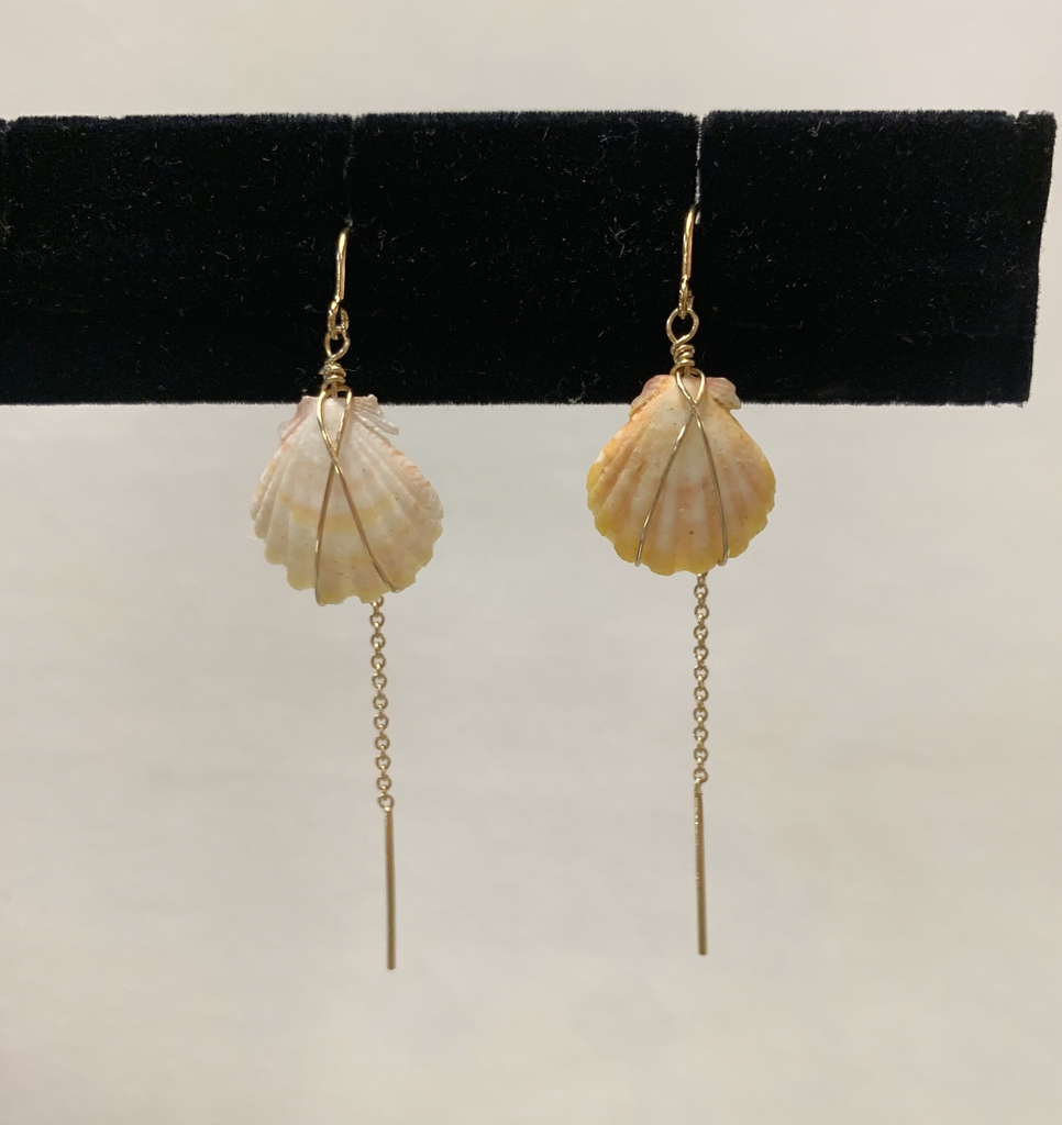 Rose Wong GF Sunrise Shell Threaders Earrings