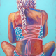 Kelly Keane ORIGINAL OIL PAINTING: ALL TIED UP 16X20
