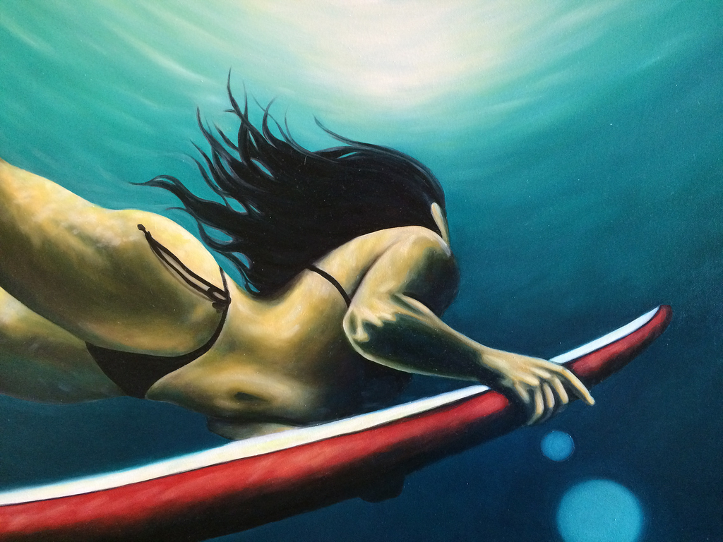 Kelly Keane ORIGINAL OIL PAINTING: DEEP DIVE 24X36