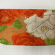 Leina Aonuma ORANGE/WHITE FLOWERS (POUCH) OBI CLUTCH