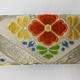 Leina Aonuma WHITE/YELLOW/GREEN/BLUE FLORAL STRAIGHT FLAP: OBI CLUTCH