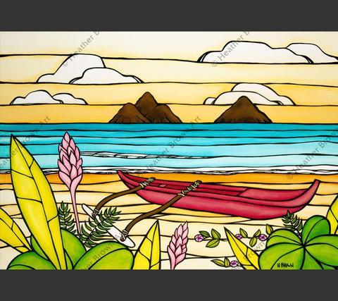 Heather Brown LANIKAI DAYDREAM, GW GICLEE ON CANVAS, 20X30, #150/250 SO21454