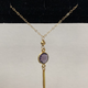 "Simply Sparkle Designs 6195 17"" Gold Fill Necklace with Gold Pyrite Rondelle, Vermeil Bezel Amethyst Round, Vermeil Spike"