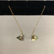 """Simply Sparkle Designs 6561 18"""" Gold Fill Necklace with Crystal Quartz 24K Gold Electroplated Caps"""