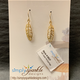 Simply Sparkle Designs 6637 Gold Fill Earrings with Vermeil Feathers