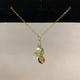 "Simply Sparkle Designs 6739 17"" Gold Fill Necklace with Vermeil Sand Dollar, Crystal Quartz Briolette, Freshwater Pearl, Peridot Briolette, Vassonite Rondelle"