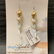 Simply Sparkle Designs 6778 Gold Fill Earrings with 18K over Brass Shell, Freshwater Pearl, Chalcedony Briolette, White Coral Branch