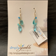Simply Sparkle Designs 6799 Gold Fill Earrings with Apatite Rondelle, Apatite Briolette, Amazonite Rondelle, Mystic Aqua Quartz Marquise