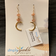 Simply Sparkle Designs 6819 Gold Fill Earrings with Vermeil Crescent, Sunstone Rondelle