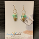 Simply Sparkle Designs 6929 Gold Fill Earrings with Vermeil Honu, Green Quartz Marquise, Chrysophrase Briolette, Lemon Chrysophrase Rondelle