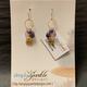Simply Sparkle Designs 6931 Gold Fill Earrings with Vermeil Octopus, Iolite Drop, Mystic Topaz Briolette, Amethyst Rondelle