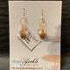 Simply Sparkle Designs 6932 Gold Fill Earrings with Vermeil Octopus, Rose Quartz Briolette, Pink Opal Briolette, Pink Opal Rondelle
