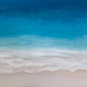 "Sarah Caudle ORIGINAL RESIN PAINTING- WAVES OF HAPPINESS, 24""X36"" UNFRAMED"