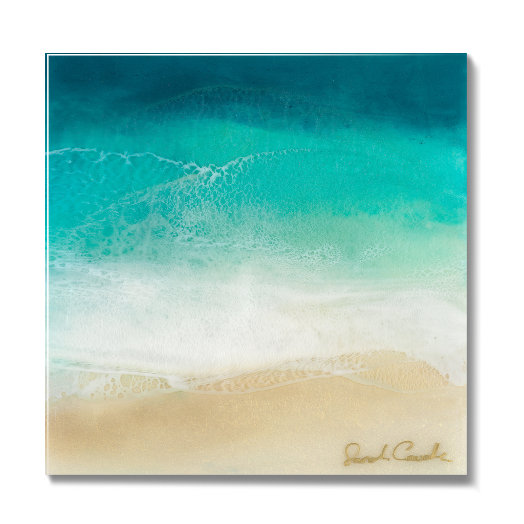 Sarah Caudle LIMITED EDITION 6X6 RESIN PRINT, #29/100, SWELL