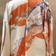 Elizabeth Kent White Kimono Jacket with Peach