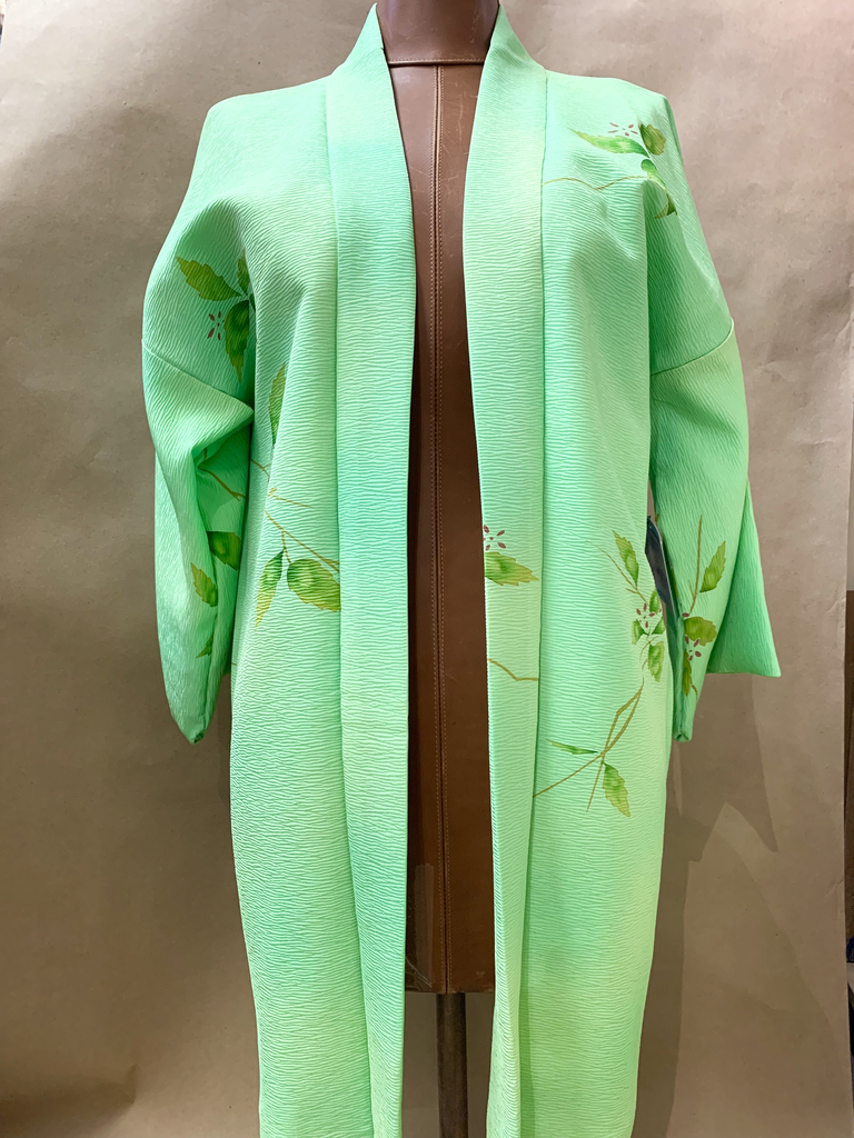 Elizabeth Kent Hand Painted Lime Green Jacket