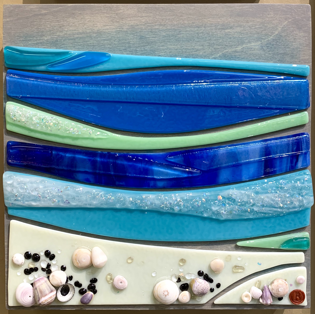 "Shelly Batha WALL ART: SHELLY BEACH 10""X10"""