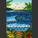 "Heather Brown A DAY IN PARADISE, 20""X30"" GALLERY WRAP GICLEE ON CANVAS, LIMITED EDITION #67/250, SO22432"