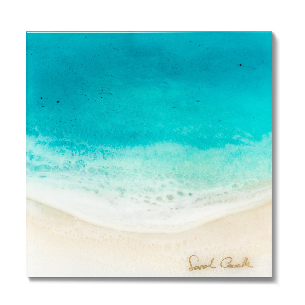 Sarah Caudle LIMITED EDITION 6X6 RESIN PRINT, #30/100, COOL OFF