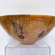 """Akamai Woods #1829 NORFOLK PINE HANDTURNED BOWL, 12""""HX5""""H, SPALTED WITH KNOTS"""